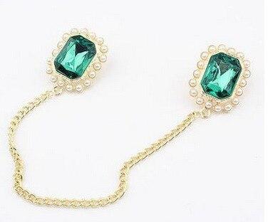 Moda pérola gema colar agulha broche broches jóias de luxo pinos broches para homens jóias de natal festival presente festa