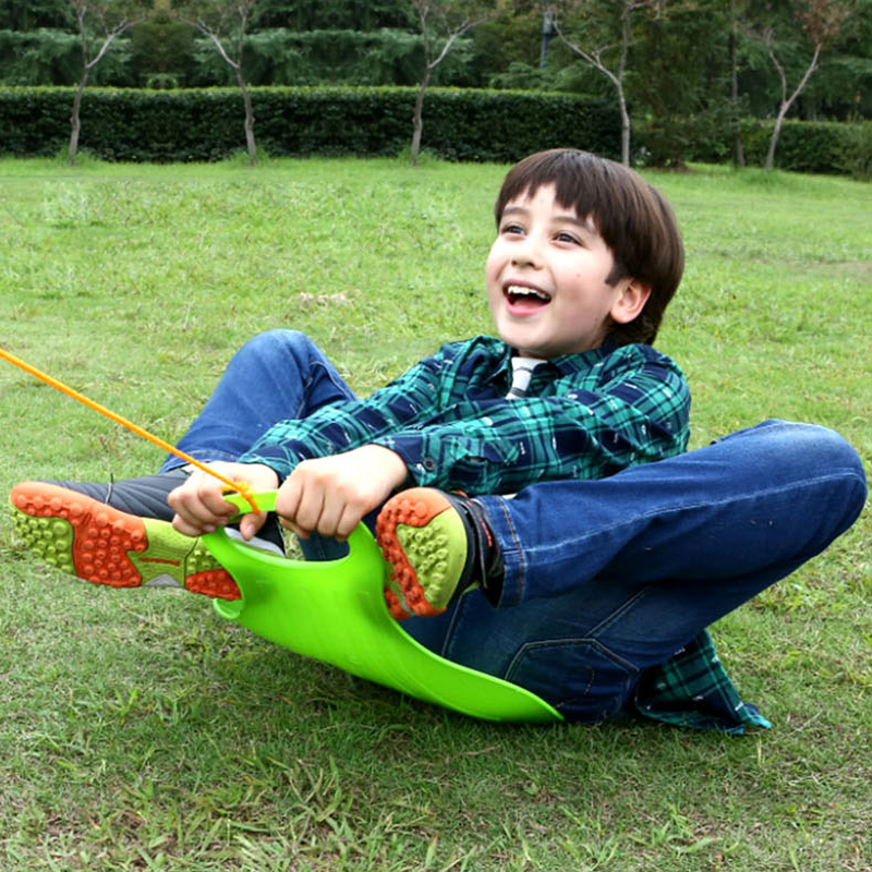Kids Snow Sled Thick Lightweight Portable Roll Up Sand Grass Rolling Slider Pad Board Toy For Adult Children Snowboards & Skis image