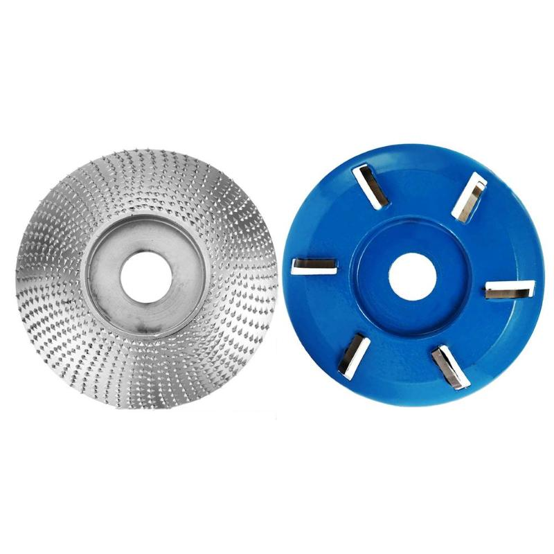 6 Teeth Spade+Circular Angle Grinder Grinding Disc Wood Carving Cutter Disc Milling Attachment Woodworking Sanding