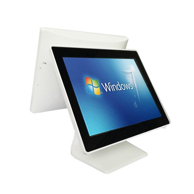 Machine de point de vente à double écran, écran tactile blanc de 15 pouces, système de point de vente pour les revendeurs, terminal de point de vente, prix d'usine 1