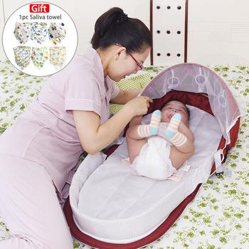Przenośne łóżko składane łóżeczko dla dziecka podróż ochrona przed słońcem moskitiera oddychający niemowlę śpiwór dla dropshipper tanie i dobre opinie Tkaniny 95*45cm Portable Bed Bag Składany 0-3 M 4-6 M 7-9 M 10-12 M 13-18 M Dostęp do komputera Stałe