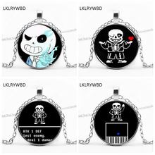 LKLRYWBD / Under The Legend of Game Undertale Character Sans Necklace Round Pendant Jewelry
