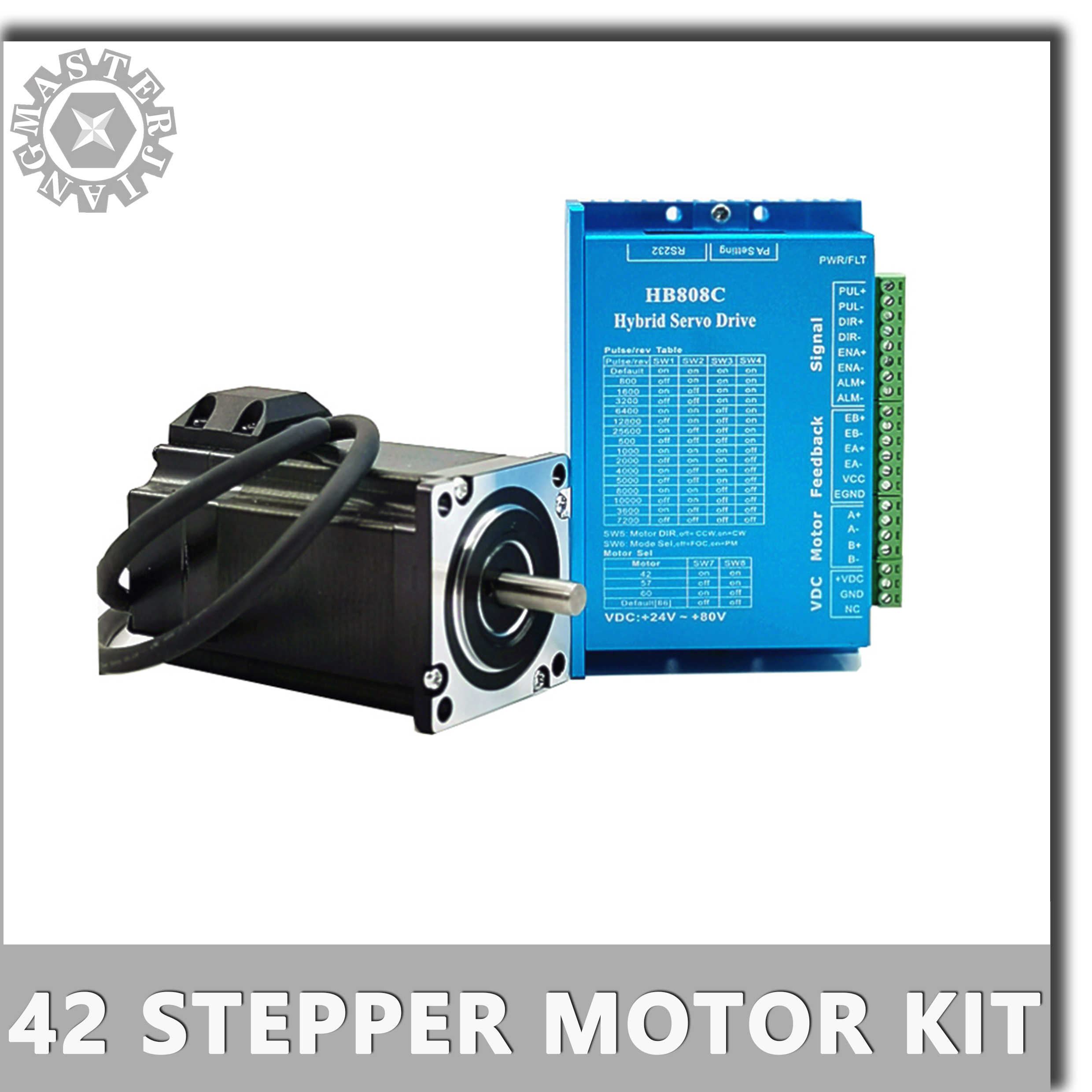 42 Hybrid Closed-loop Stepper Motor Driver 0.55nm 0.7nm Servo Motor HB808C step motor driver closed loop motor 2-phase Nema 17.