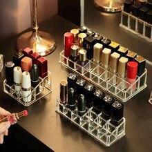 9/12 Grid Transparent Lippenstift Lagerung Box Acryl Make-Up Veranstalter Kosmetische Lagerung Rack Desktop Finishing Bad Lagerung