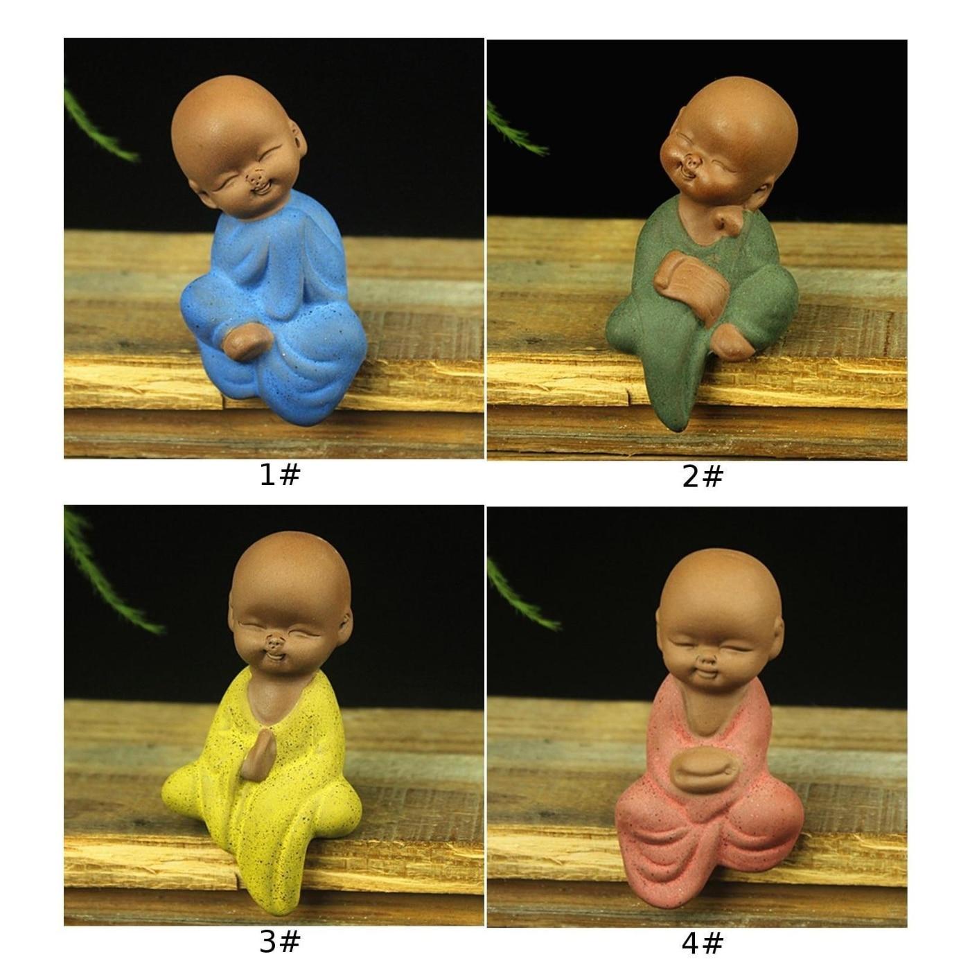 Mini Buddha Statue Statue Yoga Ceramic Handicrafts Ornaments Home