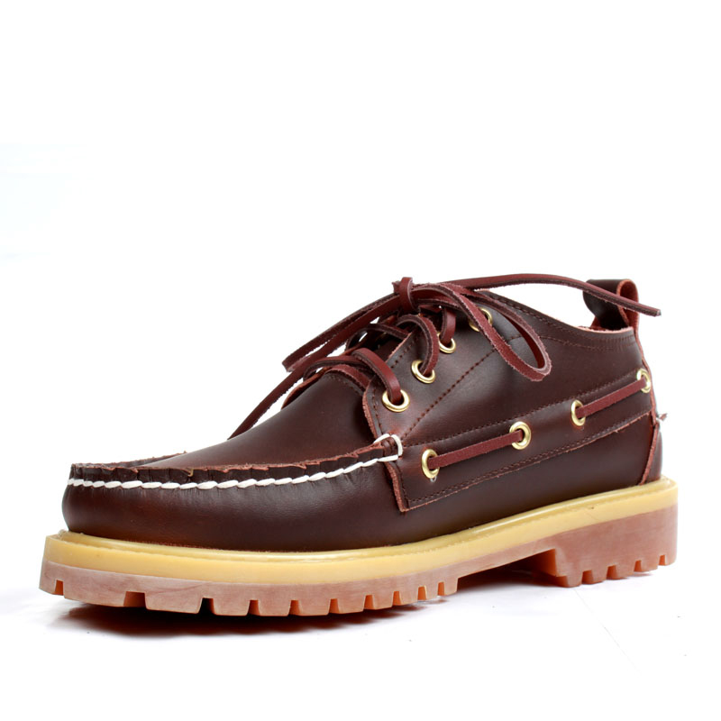 Mens Casual Genuine Leather Docksides Deck Lace Up Moccain Boat Loafers Shoes Driving Fashion Unisex Moccasins England Flats