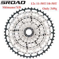 SROAD 12s 11-50T 10-50T 12 SPEED MTB Bicycle Cassette Ultralight 12s Bike Freeewheel fits SRAM XD Super Light CNC About 360g
