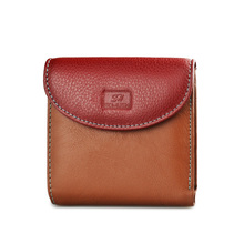 Beth Cat Mini Colorful Genuine Leather Women Wallets and Purses Female Slim Coin Purse Ladies ID Card Holder Fashion Small Money