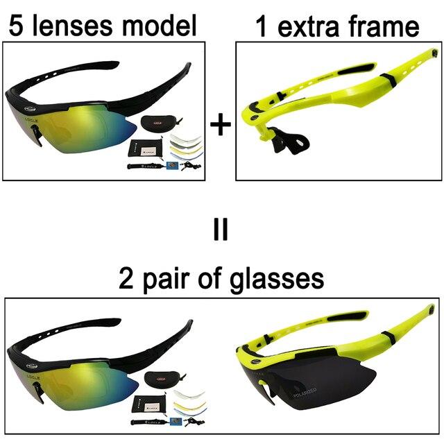 Locle ciclismo óculos uv400 polarizado ciclismo óculos de sol men road mtb bicicleta óculos de pesca equitação óculos de proteção ciclismo 5