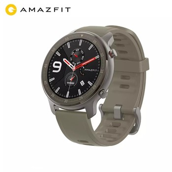 Global Version Amazfit GTR 47mm Smart Watch 5ATM New Smartwatch 24 Days Battery Music Control For Android IOS Phone global version huami amazfit gtr 42mm smart watch 5atm smartwatch 12days battery gps music control for xiaomi android ios