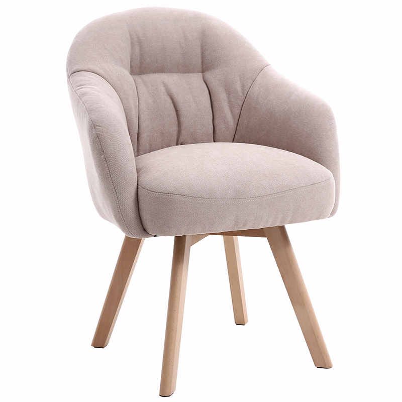 Fully Washable Nordic Computer Chair Home Comfortable Long Sitting Fabric Desk Sofa Chair Balcony Leisure Nail Net Red Chair