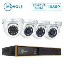 Movols 1080p 8ch h.265 ai dvr sistema de vigilância por vídeo em casa ao ar livre visão noturna câmera de segurança à prova dwaterproof água sistema de câmera cctv