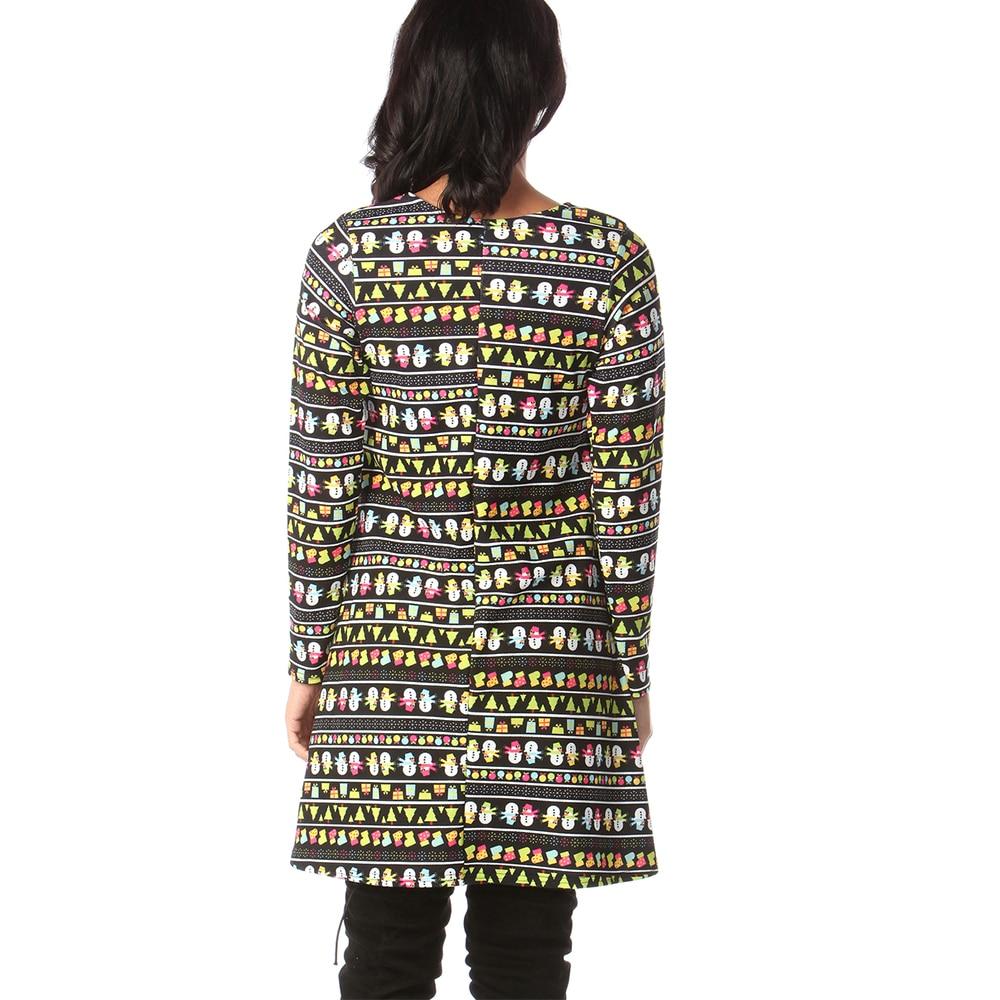 Print Long Sleeve Autumn Winter Christmas Dress Women 19 Casual Loose Short Party Dress Plus Size S-5XL Vestidos 23