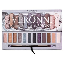 VERONNI 12 Color Nude Shimmer Eyeshadow Palette Waterproof Smoky Eye Shadow Pallete Matt Powder Cosmetics