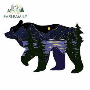 EARLFAMILY 13 см x 8,8 см для дикого медведя леса природы мотоцикла автомобиля наклейка бампер наклейки окна DIY автомобильные аксессуары для VAN RV