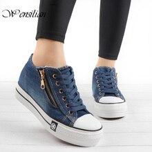 Fashion Denim Sneakers Women Vulcanize Shoes
