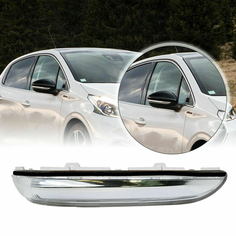 Car Door Side Wing RearView Rear View Mirror Turn Signal Light Lamp for <font><b>Peugeot</b></font> <font><b>208</b></font> 2012-2017 image