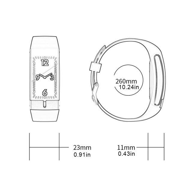 e66 с цветным смарт экраном браслет экг + ppg тест браслет мониторинг фотография