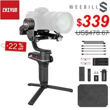 Zhiyun Weebill S taşınabilir 3 Axis el Gimbal sabitleyici OLED ekran Canon EOS R A7III A7M3 Z6 Z7 s1 aynasız kameralar