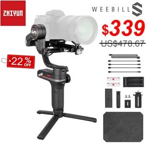 Image 1 - Zhiyun weebell S المحمولة 3 Axis يده مثبت أفقي شاشة OLED لكانون EOS R A7III A7M3 Z6 Z7 S1 المرآة