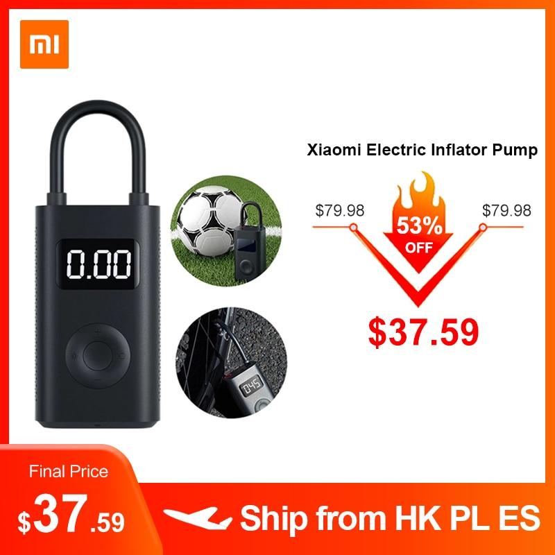 Xiaomi mi jia Портативный Умный Цифровой датчик давления в шинах Электрический насос для велосипеда мотоцикла автомобиля футбола