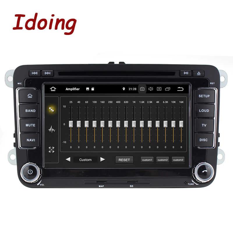 """Idoing 7 """"2din Auto Android 9.0 Radio Speler Voor Volkswagen Touran Passat B6 PX5 4G + 64G 8Core Ips Scherm Gps Navigatie Multimedia"""