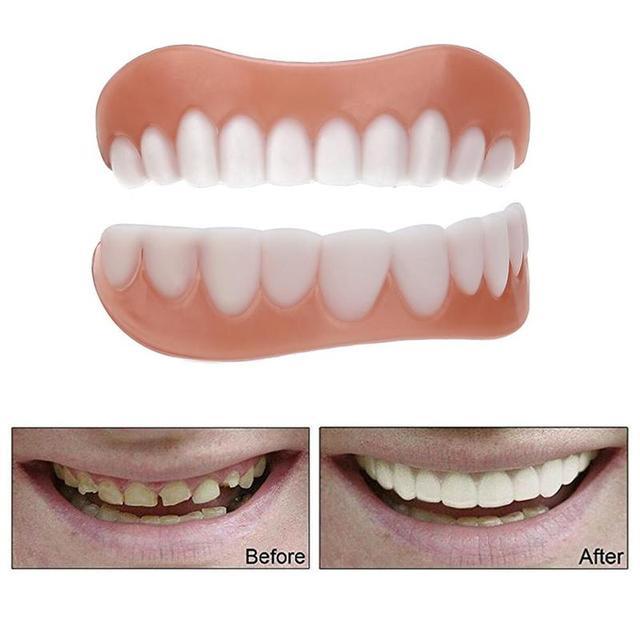 Nouvelles dents confort cosmétique dents prothèse dentaire haut cosmétique placage Simulation accolades outil de dents supérieur/inférieur