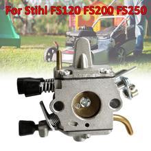 1PCS Metal Carburetor Sliver Carburetor Carb Kit for Stihl FS120 FS200 FS250 Trimmer Weedeater Brush Cutter carburetor ignition coil module kit fit stihl fs300 fs350 fs120 fs200 fs250 fs250 r fs020 fs202 ts200 trimmer weedeater cutters