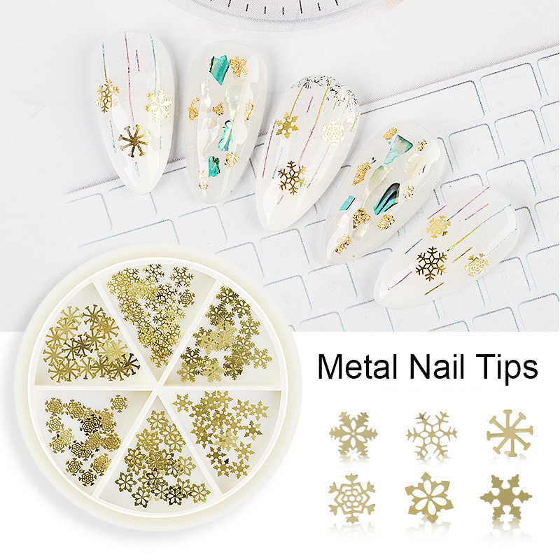 Doos 3D Tips Nail Art Horloge Onderdelen Skelet Punk Stud Retro Rock Gold Stoom Machine Metal Slice Gear Folie Decoratie tool Manicure