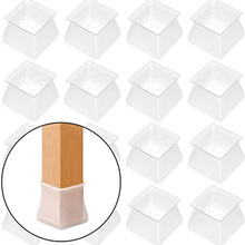 4 8 16 Pcs Furniture Protector Silicone Protection Cover Square For Chair Leg Floor Protector Home Accessories Dropshipping-V12 cheap Furnishard CN(Origin) 10 cm Furniture Leg Great Protection Protect both chair table legs Protect floor from damage Easy to Use