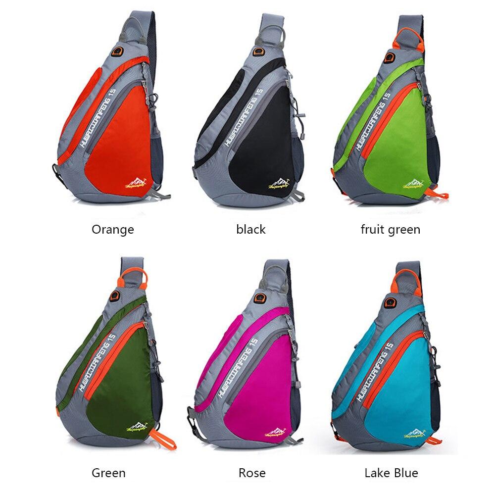 Outdoor Running Bag Sport Cycling Single Shoulder Bag Men Lightweight Hiking Bag Unisex Waterproof Chest Bags Casual