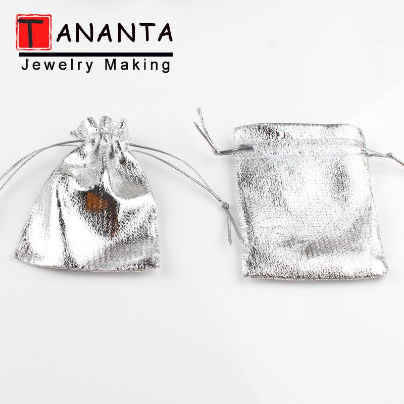 50pcs/lot 7x9cm 9x12cm Silver Fabric Bags For Jewelry Packaging Drawstring Velvet Bag Wedding Party Decoration Gift Bags Pouches