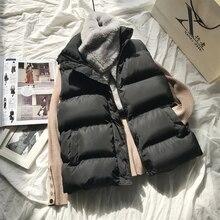 Veste chaude d'hiver en coton pour femmes, veste bouffante rembourrée sans manches