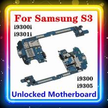 100% מקורי Mainboard לסמסונג גלקסי S3 I9300 / I9305 / I9300I / I9301I האם עם שבבי היגיון לוח 16GB