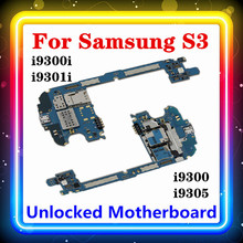 100% Original MainboardสำหรับSamsung Galaxy S3 I9300 / I9305 / I9300I/I9301Iเมนบอร์ดชิปLogic Board 16GB