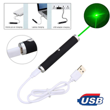 Высокомощная зеленая и красная лазерная указка с USB, 711, 5 мВт, нм, непрерывный Лазерный диапазон, зеленая охотничья лазерная ручка