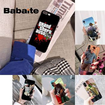 Babaite Grand Theft Auto GTA V Silicone Black Phone Case for iPhone 8 7 6 6S Plus X XS MAX 5 5S SE XR 11 11pro promax image