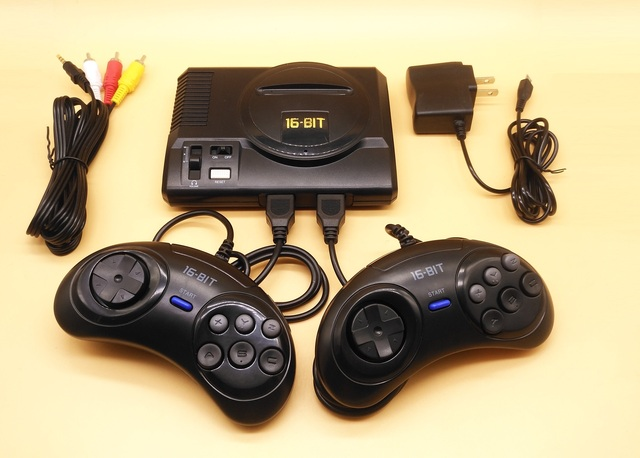 2019 New Retro Mini TV Video Game Console For Sega MegaDrive 16 Bit Games with 208 Different Built-in Games Two Gamepads AV Out 6