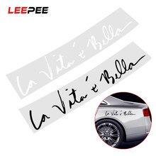 Leepee 8.8*41 cm adesivos de carro vida é bela decoração auto adesivos decalque para o corpo do carro janela estilo do carro