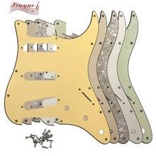Pleroo Guitar Parts - For US  Anti-pick 11 mounting Screws Hole Standard St SSS strat Guitar pickguard Multiple colors available цена