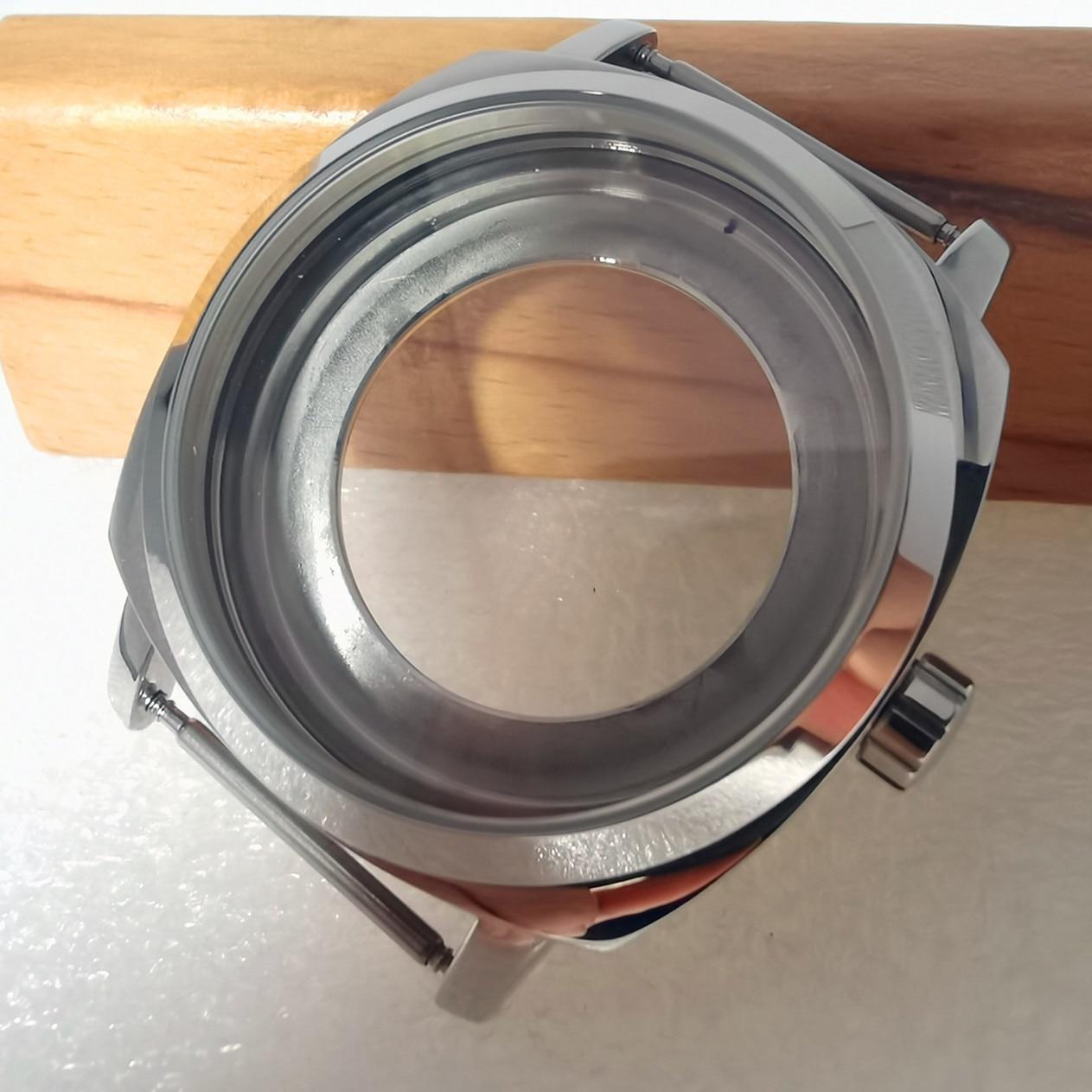 42mm relógio de aço inoxidável caso ajuste