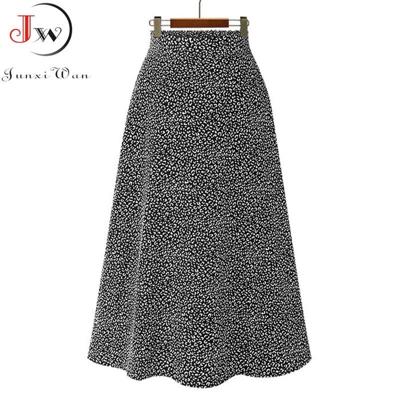 Vintage floral print chiffon skirts women Sprint Summer korean A line Pink streetwear high waist ladies midi skirt 5
