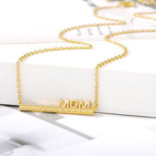 Ожерелье на день матери модное ожерелье с надписью «mom love»