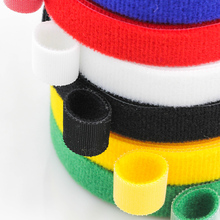 цена на 5Meters Reusable Velcros Adhesive Fastener Tape Strong Hooks and Loops Cable Ties Curtain Nylon Fastener