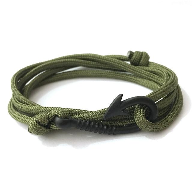 HOMOD Anchor Bracelet Bangle For Woman Man Pulsera Hot Sell Design Handmade Weave Polyester Material Bracelet Multilayer