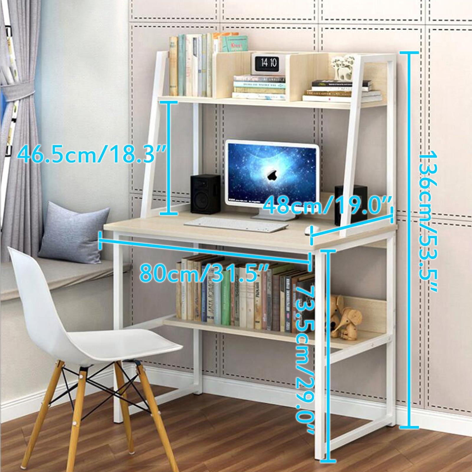 Table multifonctionnelle de jeu de Table de bureau d'école à la maison de meubles de bureau d'ordinateur avec l'étagère pour des livres - 2
