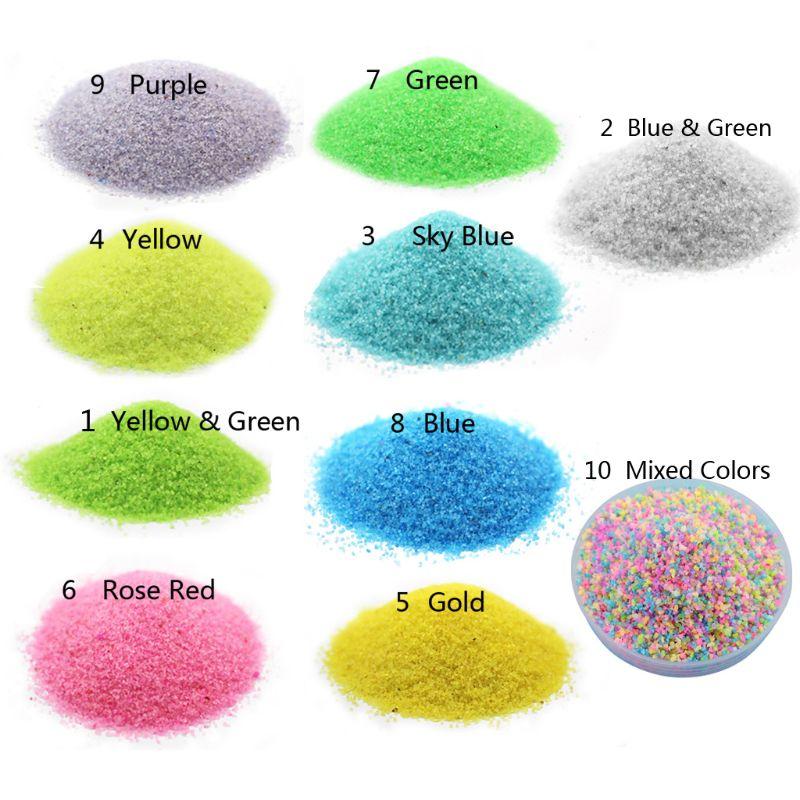 100G Fluorescent Bright Glow In Dark Sand Powder Pigment Resin Jewelry Making