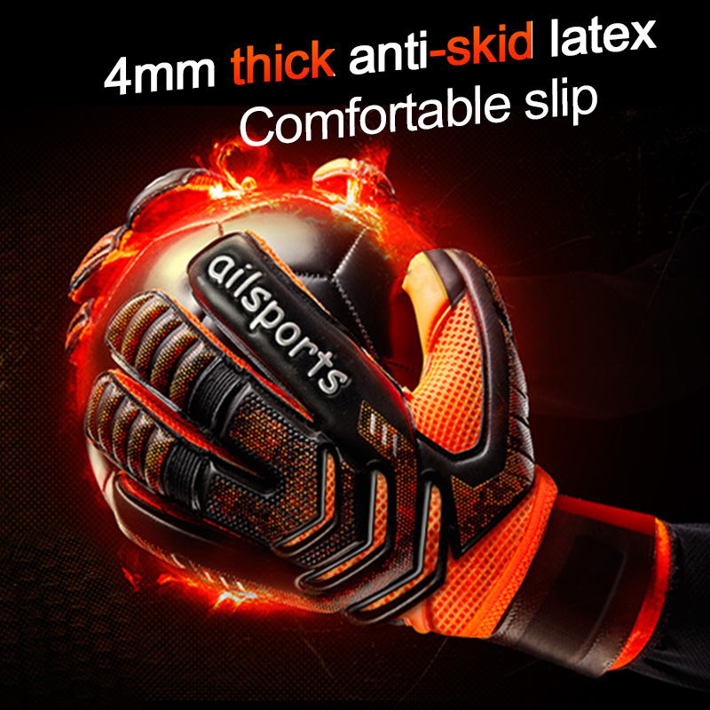 Protector Football-Goalie-Gloves Soccer Goalkeeper Professional Latex 4mm with Children