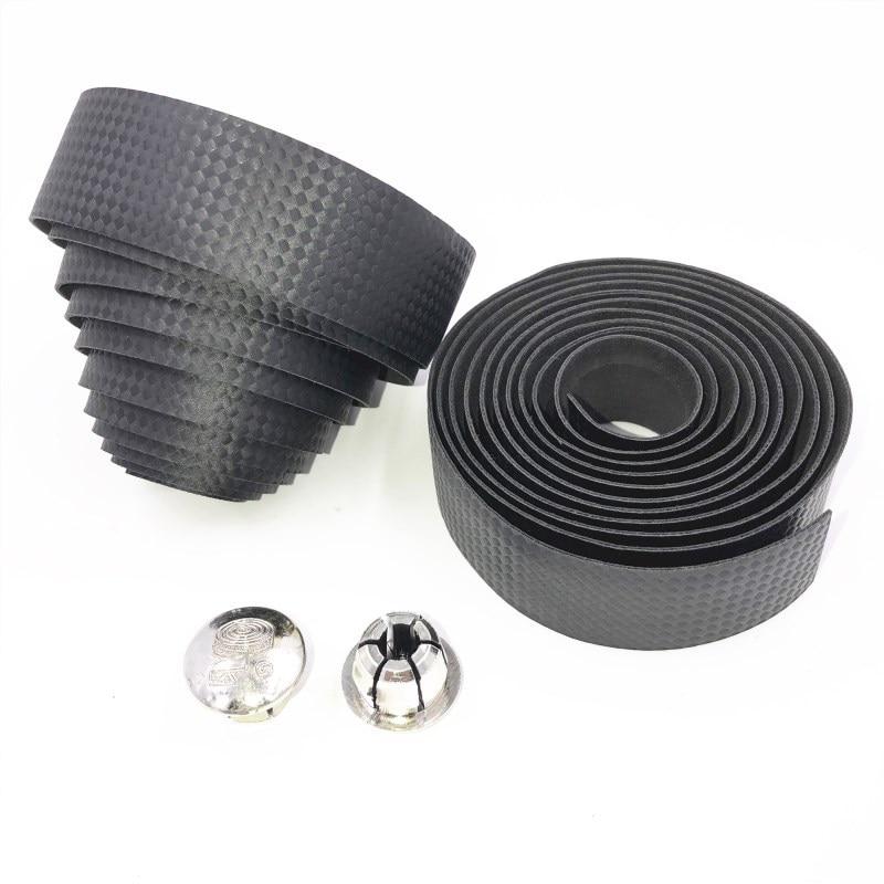 Top Grade Imitation Carbon Fiber Pattern Mountain Highway Self-Bicycle Fixed Gear Bar Tape Anti-slip Damping Bar Tape