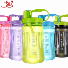 1000ml/2000ml 6 Color Herbalife Nutrition 24hour Drinkware Protein Shaker Camping Hiking Straw Water Bottle Space Bottle